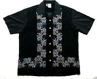 Kennington Men's Colored Floral Arabic Courtyard Musicians Shirt Rare XL