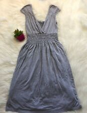 Soprano Womens Size XS Gray Sleeveless stretch Knit Dress light