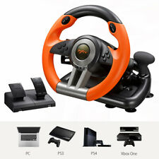 PXN V3II Steering Wheel Racing Game With Brake Pedal For Xbox One PS3 PS4 PC