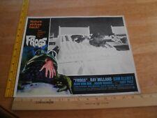 1972 FROGS Sam Elliott Joan Van Ark movie Lobby Card Ray Milland horror