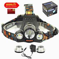 Boruit 6000Lm RJ-5001 3x XM-L2 LED Bicycle Headlamp HeadLight Flashlight Torch