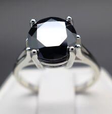 3.50cts 10.30mm Real Natural Black Diamond Ring AAA Grade & $1950 Value....