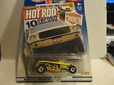 Hot Wheels Target Exclusive Editors Choice Yellow Deuce Roadster w/Real Riders
