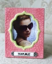 Grasslands Road Pink Ceramic Picture Frame 'TEAM ME' Selfie Self Photo Frame