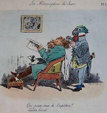 GRANDVILLE . Les Métamorphoses du Jour.Pl.2, 1ERE EDITION HORS-TEXTE, CHEZ BULL