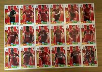 PANINI ADRENALYN XL PREMIER LEAGUE 2019/20 TEAM SET OF ALL 18 LIVERPOOL CARDS