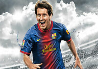 STICKER AUTOCOLLANT POSTER SPORT FOOTBALL MESSI N°10 F.C.BARCELONE.LIGUE 1. N°3.