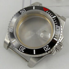 Fit NH35 AutoMovement Silver Color Stainless Steel Watch Case Ceramic Bezel