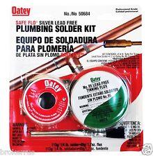 Silver Bearing Lead Free Solder Ampflux Plumbing Soldering Kit Plumber Oatey 50684