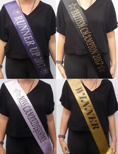 Personalised  Graduation , Competition,Dance schools & Pageant Sashes