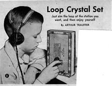 Build A Loop Crystal Radio Set No Ground Or Big Antenna Great Reception #239