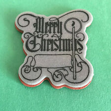 Merry Christmas Clear Acrylic Unmounted Stamps