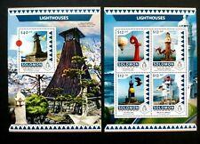 Solomon Islands Lighthouses 4v m/s + 1v m/s