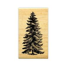 PINE TREE medium mounted rubber stamp, scenery, Christmas, winter, nature #19