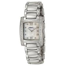 Ebel Women's 'Brasilia' Stainless Steel and Diamonds Swiss Quartz Watch