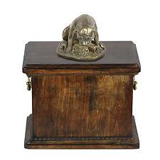 Staffy mama, dog urn made of cold cast bronze, ArtDog, UK - kind1