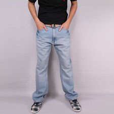 Stonewashed Herren-Jeans im Relaxed-Stil aus Denim mit regular Länge