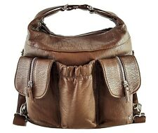 Purse King Butterfly Convertible Purse (Backpack/Shoulder Bag) in Dark Brown