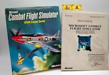 Microsoft Combat Flight Simulator WWII 2 Europe Series PC Game BOX MANUAL ONLY