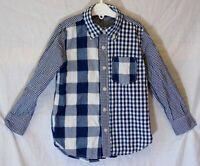 Boys Gap Blue White Check Smart Casual Long Sleeve Shirt Age 5 Years