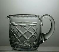 LEAD CRYSTAL CUT GLASS MILK OR CREAM JUG