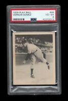 1939 Play Ball BB Card # 48 Lefty Gomez New York Yankees PSA VG-EX 4 !!!