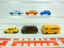 BT389-0,5 #6x Wiking H0 / 1:87 Modèle VW : Coccinelle Post + Ipec + 411 Etc,Très