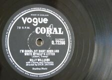78 rpm BILLY WILLIAMS sit right down & write myself letter / date with the blues