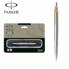 Parker Jotter Stainless Steel GT Ball point Pen Gold Trim Ballpoint New Blue Ink