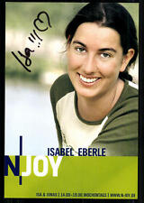 Isabel Eberle N Joy Autogrammkarte Original Signiert ## BC 23654