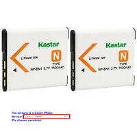 Kastar Battery BN1 for Sony NP-BN1 Type N Cybershot DSC-QX10 TF1 TX10 W830 WX220