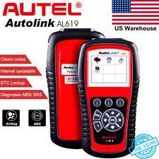 Autel AL619 Car Diagnostic Scanner OBDII Fault Code Reader Engine ABS SRS Airbag