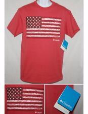 Columbia Mens CSC Tree Flag Tee T-shirt Red 100% Cotton SS Sz M NWT Retail $30