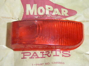 NOS Mopar 1951-1952 Plymouth P22 Concord Right Taillight Lens