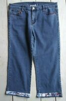 Shane Lee Inc denim capris w/trim details women's size 10
