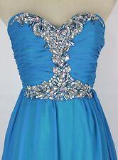 Masquerade Blue Evening Prom Formal Strapless Dress size 5 Evening $200 Long