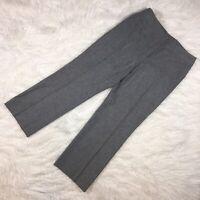 AKRIS Womens Pants US 12 Gray Wool Angora Wide Leg Slacks Career