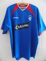 Glasgow Rangers Football Shirt Home 2003 2005 Diadora Top Mens Jersey Retro XL