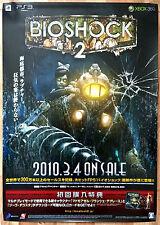 BIOSHOCK 2 rari ps3 xbox 360 0,5 CM X 73 giapponese PROMO POSTER