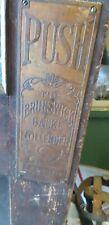 Original Brunswick Balke Collender, Pool Table Makers-Pair Door Push Plates