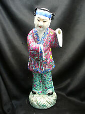 Antique Chinese Export Famille Rose Porcelain Figure Of a Man