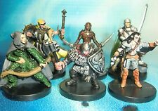 Dungeons & Dragons Miniatures Lot  Experienced Player Character Party !!  s116