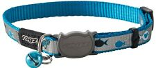 Rogz ReflectoCat Safeloc Collar Blue Fish 11mm