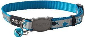 Rogz Cat Collar ReflectoCat XS S Blue Red Lime