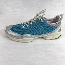 ecco biom train womens walking shoes aqua silver mesh trainers size 39 US 8-8.5