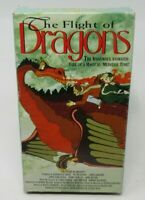 THE FLIGHT OF DRAGONS ANIMATED VHS VIDEO MOVIE, VICTOR BUONO, JOHN RITTER, 1993