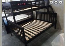 Bunk Bed Double Single Timber  Trio Kids Choc  Or White NEW DESIGN