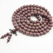 Purpleheart Wood Tibet Buddhist 108 Prayer Beads Mala Necklace