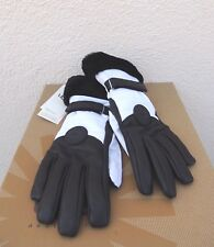 UGG WHITE WATERPROOF PERFORMANCE SMART GLOVE WITH FUR ~ WOMEN S/ M ~ NWT