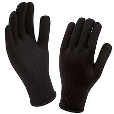 SealSkinz Merino Wool MTB/Running/Biking/Bike Liner Gloves - Black - One Size